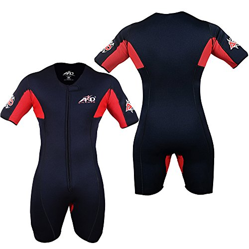 4Fit Neoprene Sweat Shirt Rash Guard Sauna Suit Weight Loss Top MMA (S to 6XL) (XL) ()