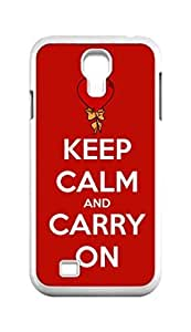 Cool Painting keep calm and carry on Snap-on Hard Back Case Cover Shell for Samsung GALAXY S4 I9500 I9502 I9508 I959 -813