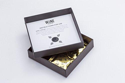 Wine Condoms | Wine & Beverage Bottle Stopper | Air-Tight Grip | Prolong Beverage Freshness | FUNctional Novelty Gift | Food Grade 100% Rubber Latex | Tuxedo Black | Set of 6