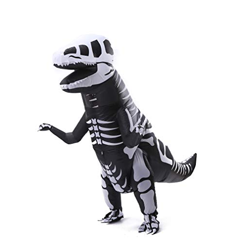 Dinosaur Shape T-Rex Inflatable Costume Adult Dino Suit Gift Skeleton Skull Style for Christmas New Year Holiday Cosplay ()