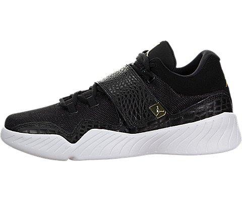 Nike Jordan Men's Jordan J23 Black/Metallic Gold/White Basketball Shoe 8 Men US (Jordan Gold Shoes)