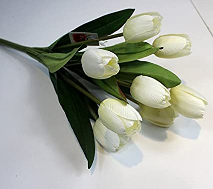 Amazon 9 Heads Tulip Flower Artificial Flowers Simulation Silk