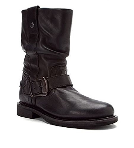Original Ladies Black Leather Slip Biker On Boot Darice Harley Davidson Boots qwEpnUAWv
