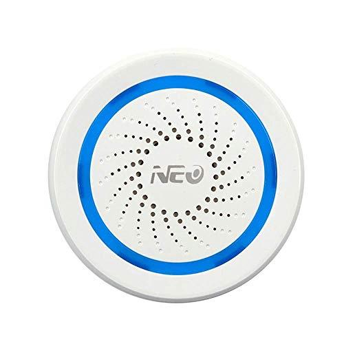 FUO DHUGER Home Automation Sirena Alarma Sirena Smart Home actuador Sirena Plug & Play en Z-Wave 868,4 MHz EU Compatible con...