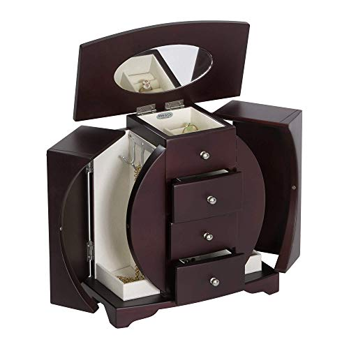 Mele & Co. Simone Wooden Jewelry Box, Ring, Necklace, and Earring Organizer (Box Jewlary)
