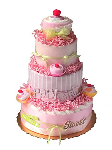Cupcake Diaper Cake (pink) by Crib Critters