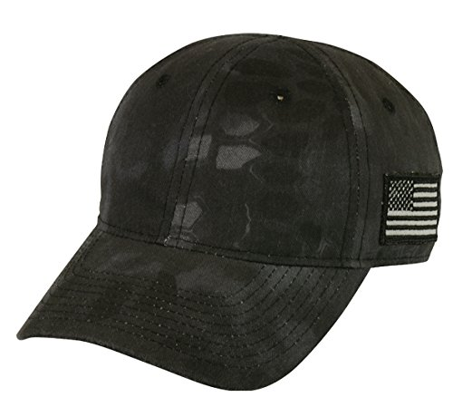 Kryptek Tonal Side American Flag Cap, Kryptek Typhon Camo ()