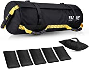 Workout Sandbag for Fitness, Heavy-Duty Weight Training Sand Bag with Empty Filler Bags for Full Body Exercise
