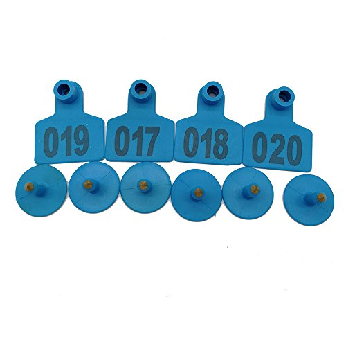 001-1000 Ear Tags Animal Identification Tags Livestock Cattle Sheep Pig Ear Mark (Blue) by General (Image #3)