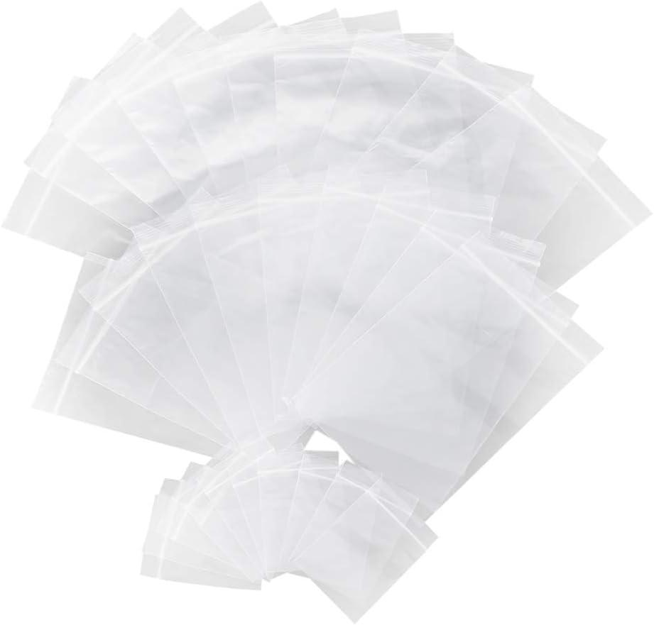 TOMYEER 150 Piezas de Bolsa con Cierre Bolsa Resellable de Plástico Bolsa de Polipropileno Transparente