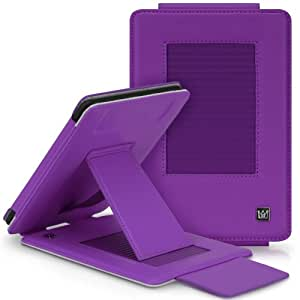 CaseCrown Epic Standby Cover Case with Viewing Stand (Purple) for Amazon Kindle Paperwhite 2012 / 2013 (Built-in magnet for sleep / wake feature)