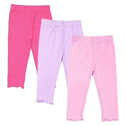 Capri Leggings for Girls 3 Pack Girl