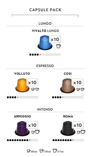 Nespresso OriginalLine Espresso Capsules, Variety Pack, VOLLUTO, ROMA, COSI, VIVALTO LUNGO, ARPEGGIO, 50Count pods by Nespresso (Image #1)