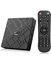 Bqeel - TV Box Android 8.1 HK1 MAX / CPU RK3328 Quad-Core 64bit / 4G DDR3+64G EMMC / Dual WiFi 2.4/5G + 100M LAN, Android Box TV Bluetooth 4.0 / USB 3.0 / AV / Dolby / 3D 4K Smart TV Box
