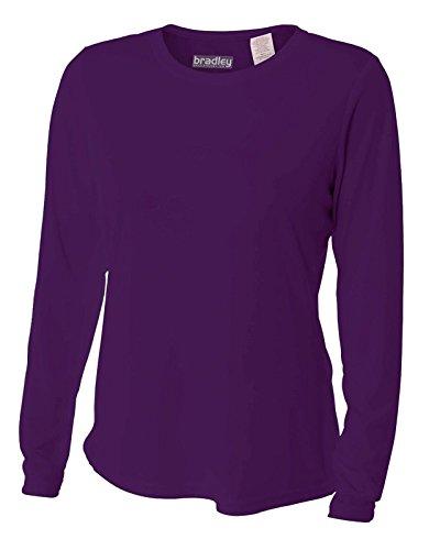 Bradley Women's Loose Fitting Long Sleeve Rash Guard Swim Shirt UV Large Purple