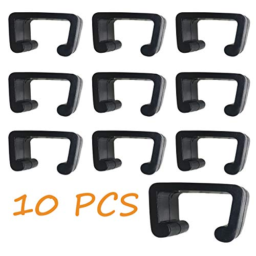 Delman 10 PCS Patio Furniture Clips Rattan Wicker Furniture Clip Sectional Sofa Couch Alignment Fasteners Clips Clamps Connectors for Garden Set