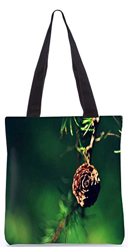 """Snoogg Goldene Blume Einkaufstasche 13,5 X 15 In """"Shopping-Dienstprogramm Tragetasche Aus Polyester Canvas"""
