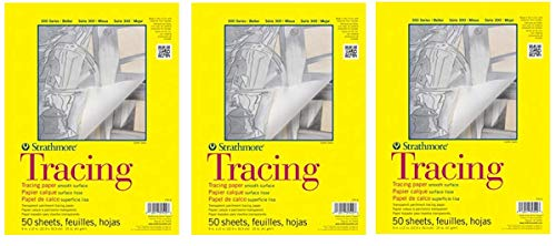 Strathmore 370-9 300 Series Tracing Pad, 9''x12'' Tape Bound, 50 Sheets (Thrее Рack, White) by Strathmore (Image #4)