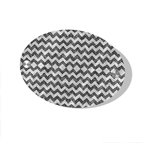 POBUYGBD Grunge Pencil Chevron Zigzag Black&White Door Decoration Card MDF 5.5