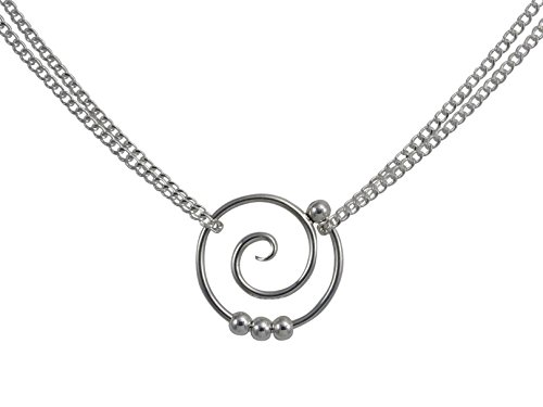 Tendril Dew Drop Spiral Double Chain (Spiral Drop Necklace)