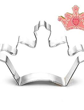 HJLKP corte forma de corona cortadores de galletas de frutas moldes del rey / de la reina de acero inoxidable: Amazon.es: Hogar