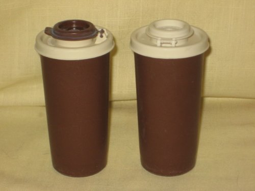 - Vintage Brown & Almond Tupperware Salt and Pepper Shakers