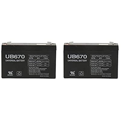 Universal Power Group 6V 7AH SLA Battery Replaces wp7-6 wp8-6s gp670-2 Pack: Electronics
