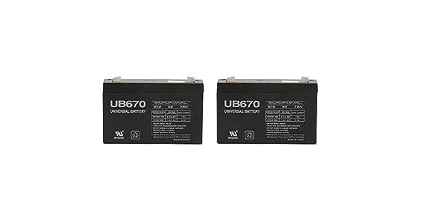 Amazon.com: 6 V 7000 mAh batería de UPS para Power Patrol ...