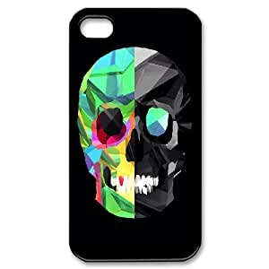 DIY Printed polygon skull colorful cover case For iPhone 4,4S WAN6300223