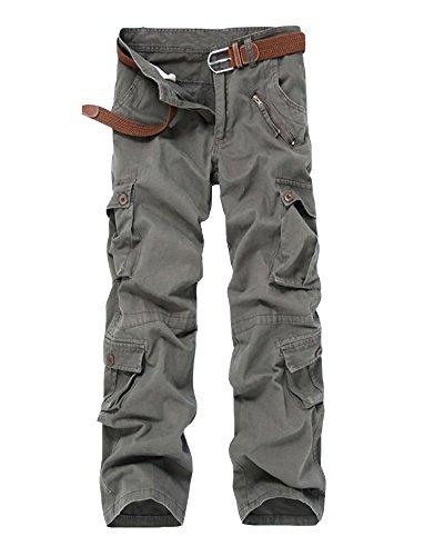 Uomo Tasconi Esercito Oversize I Casual Cargo Pantaloni Verde Mimetiche Con Laterali rPqrZz0S