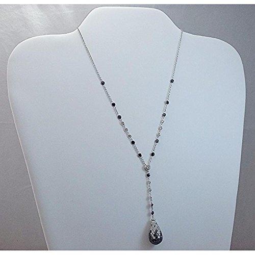 Collier artisanal Femme CDP _ pendentif or blanc diamant