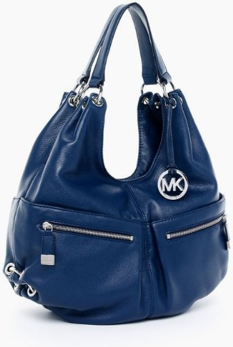 b2332559fba3 Amazon.com | MICHAEL Kors Layton Large Shoulder Tote (Navy) | Shoes