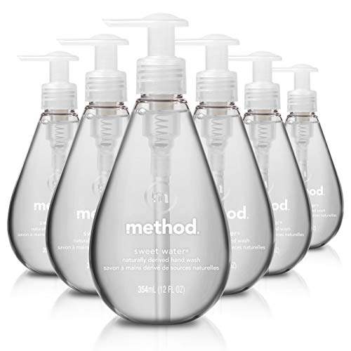 Method Gel Hand Soap, Sweet Water, 12 Ounce (Pack 6) (Citrus Bath Scented Bubble)