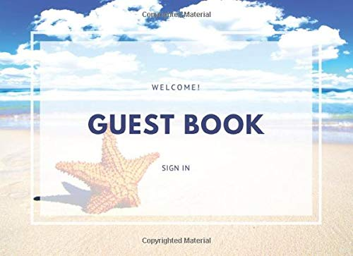 Guest Book: Beach Cover for Home, Bed and Bath, Showers, Retirement and Birthday Parties Zenia Guest