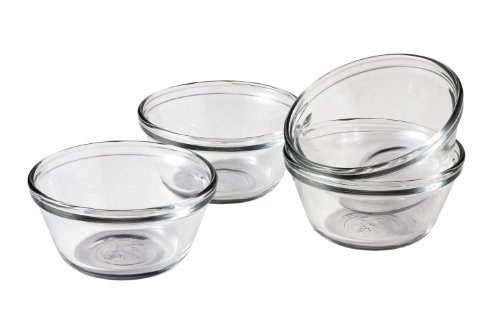 - Anchor Hocking 6-Ounce Custard Cups, Set of 4, Frustration Free Packaging