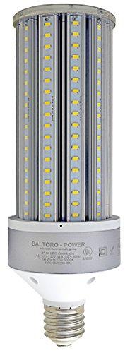 Baltoro CLS6060 60W LED Corn Bulb, 360° Flood Light Replaces 275-350 Watt MH, HID, HPS & CFL Large Mogul Screw Base (E39) Area Light, 5000K UL & DLC, High Brightness 8100 Lumen. UL and DLC Listed ...