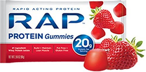 RAP Protein Gummyes, Strawberry, 2.58 Ounce Bag, (Pack of 5)