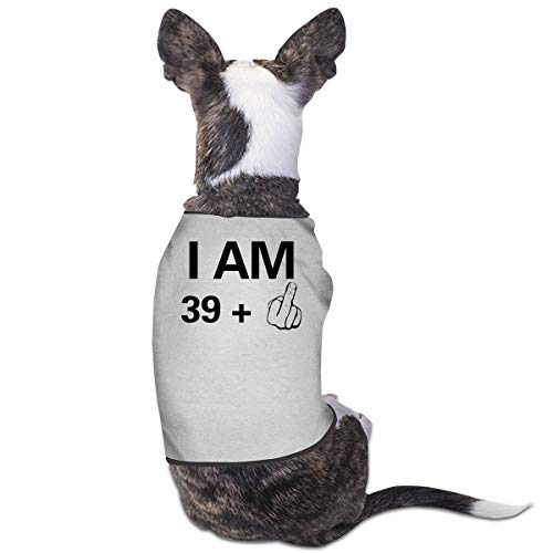 Jmirelife Puppy Dogs Shirts Costume Pets Clothing I Am 40 Years Old Small Dog Clothes Vest ()