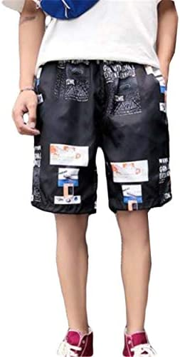 (ショッフェ) ハーフパンツ ワイドパンツ メンズ プリントショートカーゴパンツ 半ズボン 夏 大きいサイズ 調整紐 速乾 ビーチショーツ ポケット付き夏季対応 水着