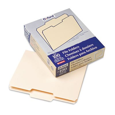 Pendaflex Essentials 752-1-3-2 File Folders, .33 Cut, Second Position, Top Tab, Letter, Manila, 100-Box