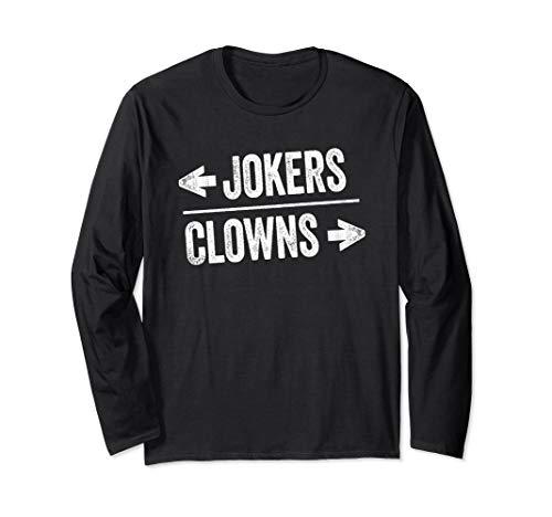 Halloween Clown Meme (Clown World Meme Humor Halloween Left & Right Clown Jokers Long Sleeve)
