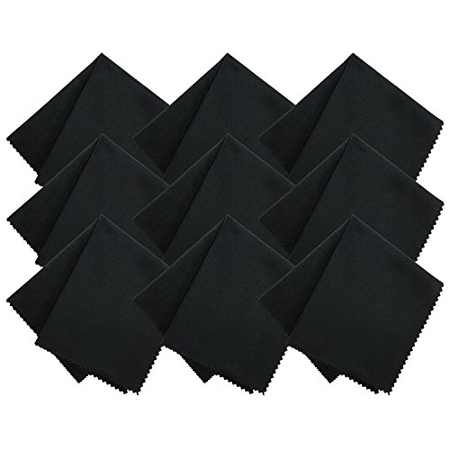 "STS S&T Tech Non-Abrasive Microfiber Cleaning Cloths for iPads, Tablets, Glasses, and lens - XL 6"" x 7"" - 9 PK"