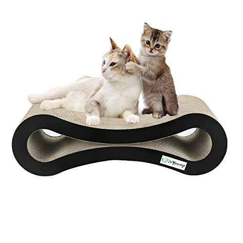 isYoung Cat Scratcher Lounge Corrugated Cat Scratcher Cardboard Protector for