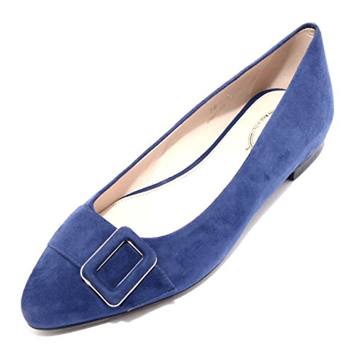 96477 ballerina TODS blu scarpa donna shoes women flat Bluette