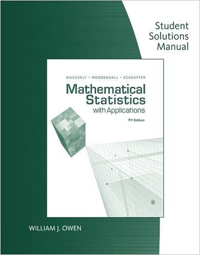 Mathematical Statistics Homework Solutions