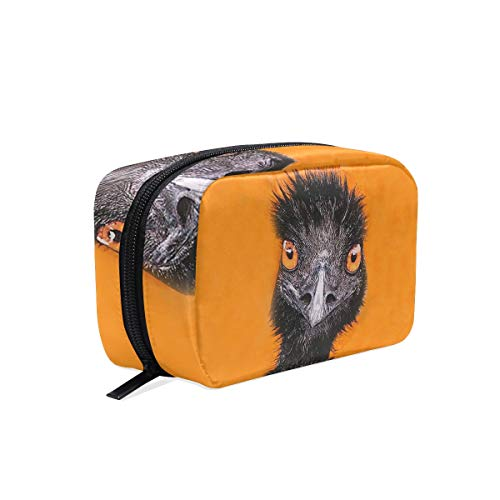 Cosmetic Bag Portable and Suitable for Travel Emu Make Up bag with Zipper Pencil Bag Pouch ()