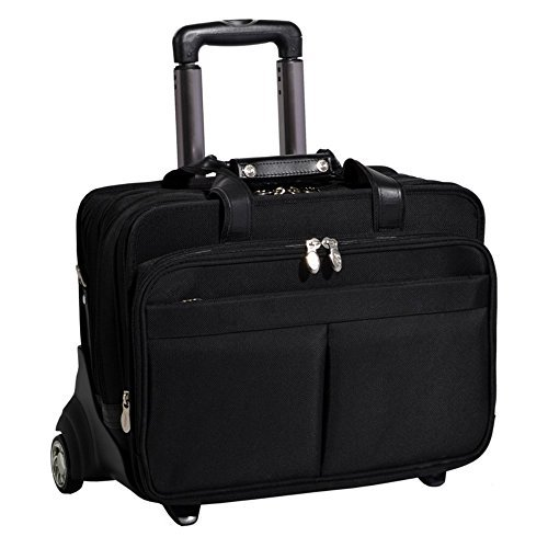 McKlein CHICAGO 73585 Black 17 Detachable-Wheeled Laptop ...