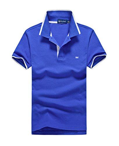 (シンアンドケン) sin&ken ポロシャツ メンズ シャツ 半袖 ポロ ゴルフウェア トップス … (L, ブルー) [並行輸入品]