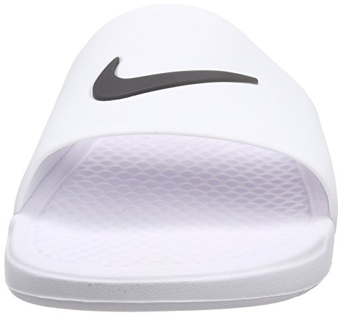 Benassi Da Slide Scarpe bianco Piscina Nero Uomo Bianco Spiaggia Nero Nike E Shower d1cWa66
