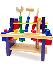 Euyecety Construction Toy Workbench Toy Pretend Play, Tool Play Set for Toddler Creative DIY Building Set, Disassemble Educational STEM Toy Multifunctional Learning Toy, Gift for 3 4 5 Years Boy Girl